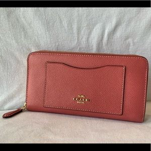Large Pink Coach Wallet